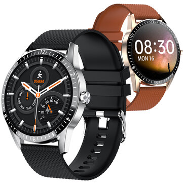 [bluetooth Calling] Bakeey Y20 Full-touch Screen Heart Rate Blood Pressure Oxygen Monitor Custom Dial Weather Display Smart Watch