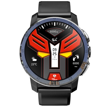 Kospet Optimus Pro Dual Chip System 3G+32GB MIRROR BLACK International4GLTE Watch Phone AMOLED 8.0MP 800mAh GPS Google Play Smart Watch Black