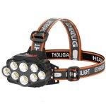 Στα 7€ από αποθήκη Κίνας   XANES® 4-Modes 8*XPG LED Headlamp USB Rechargeable Long Shoot Camping Head Light 18650 Fishing Lantern Waterproof Head Torch Flashlight