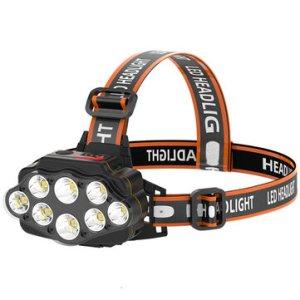 Στα 7€ από αποθήκη Κίνας | XANES® 4-Modes 8*XPG LED Headlamp USB Rechargeable Long Shoot Camping Head Light 18650 Fishing Lantern Waterproof Head Torch Flashlight