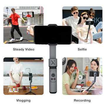 ZHIYUN Smooth X Handheld Gimbal Extension Rod Stick Stabilizer Portable Palm Size Selfie Stick for iPhone Huawei Xiaomi Redmi Vlog Video Selfie