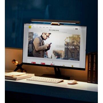 Baseus Led Desk Lamp Screen Hanging Light Reading Computer Eye Protection Lamp for PC Laptop Notebook