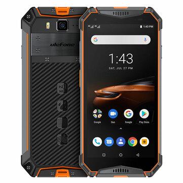 Ulefone Armor 3W 5.7 Inch NFC IP68 IP69K Waterproof 6GB 64GB 10300mAh Helio P70 Octa core 4G Smartphone