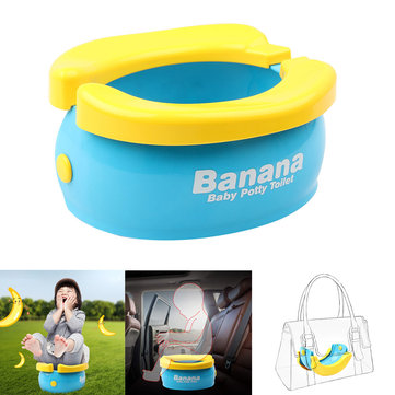 Folding Baby Toilet Travel Baby Potty Portable Car Children's Toilet Seat Max Load 50kg