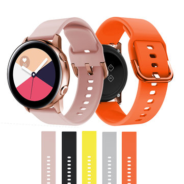 Bakeey 20mm Width Silicone Watch Band Strap Replacement for Samsung Galaxy Watch Active 2 / Samsung Galaxy Watch 42mm
