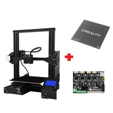 Creality 3D® Customized Version Ender-3X / Ender-3Xs 3D Printer Kit 220x220x250mm Printing Size With Removable Glass Plate Platform/V1.1.5 Super Silent Mainboard/Power Resume Function