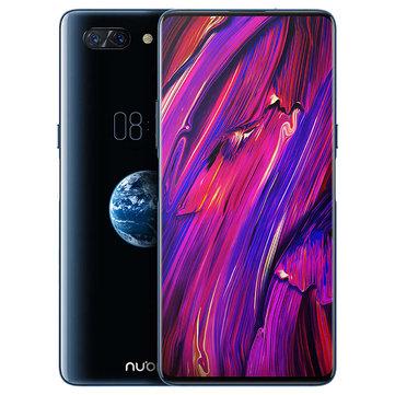 ZTE Nubia X 6.26 Inch + 5.1 Inch Dual Screen 3800mAh 24MP + 16MP Dual Rear Cameras 8GB RAM 128GB ROM Snapdragon 845 Octa Core 2.8GHz 4G Smartphone