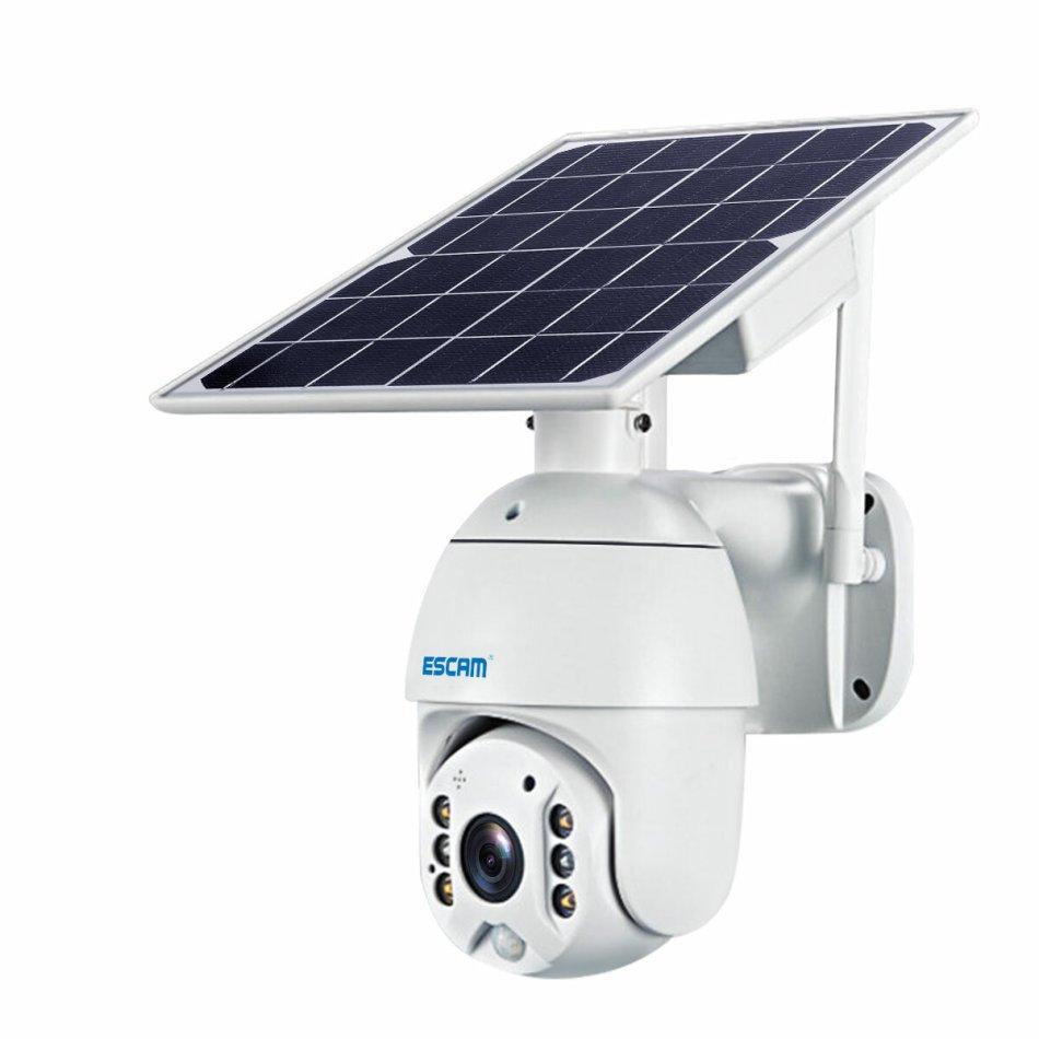 ESCAM QF280 1080P Cloud Storage PT WIFI PIR Alarm IP Camera With Solar Panel Full Color Night Vision Two Way IP66 Waterproof Audio Camera