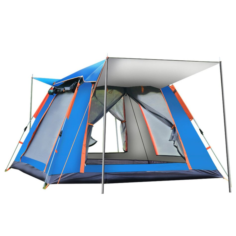6-7 People Fully Automatic Tent Outdoor Camping Family Picnic Travel Rainproof Windproof Tent