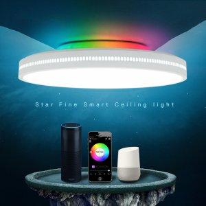 Στα €49.53 από αποθήκη Κίνας | OFFDARKS AC200 240V 60W 400mm Ceiling Lamp Bedroom Kitchen LED Ceiling Light RGB Dimming APP WIFI Voice Control