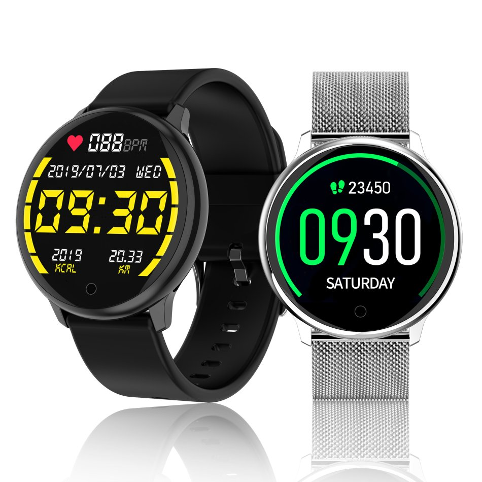 [30Days Long Standby] Bakeey R7 1.22 inch Touch Screen Heart Rate Blood Pressure Monitor Multi-Sport Modes Remote Control Music IP67 Waterproof Smart Watch