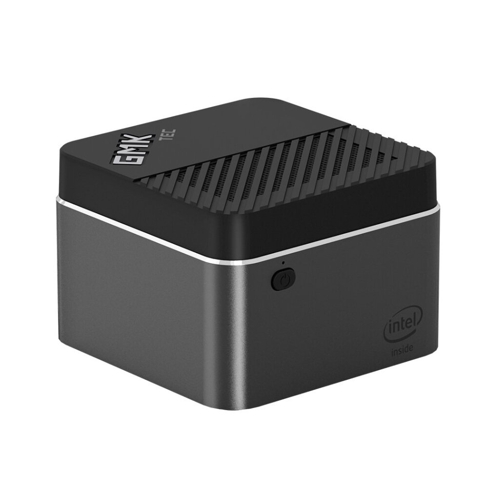 GMK NucBOX Intel Celeron J4125 8GB LPDDR4 128G SSD Mini PC Desktop PC Mini Computer Quad Core 2.0GHz to 2.7GHz TDP 10W M.2 2242 SATA Type-C HDMI Windows 10 BT4.2