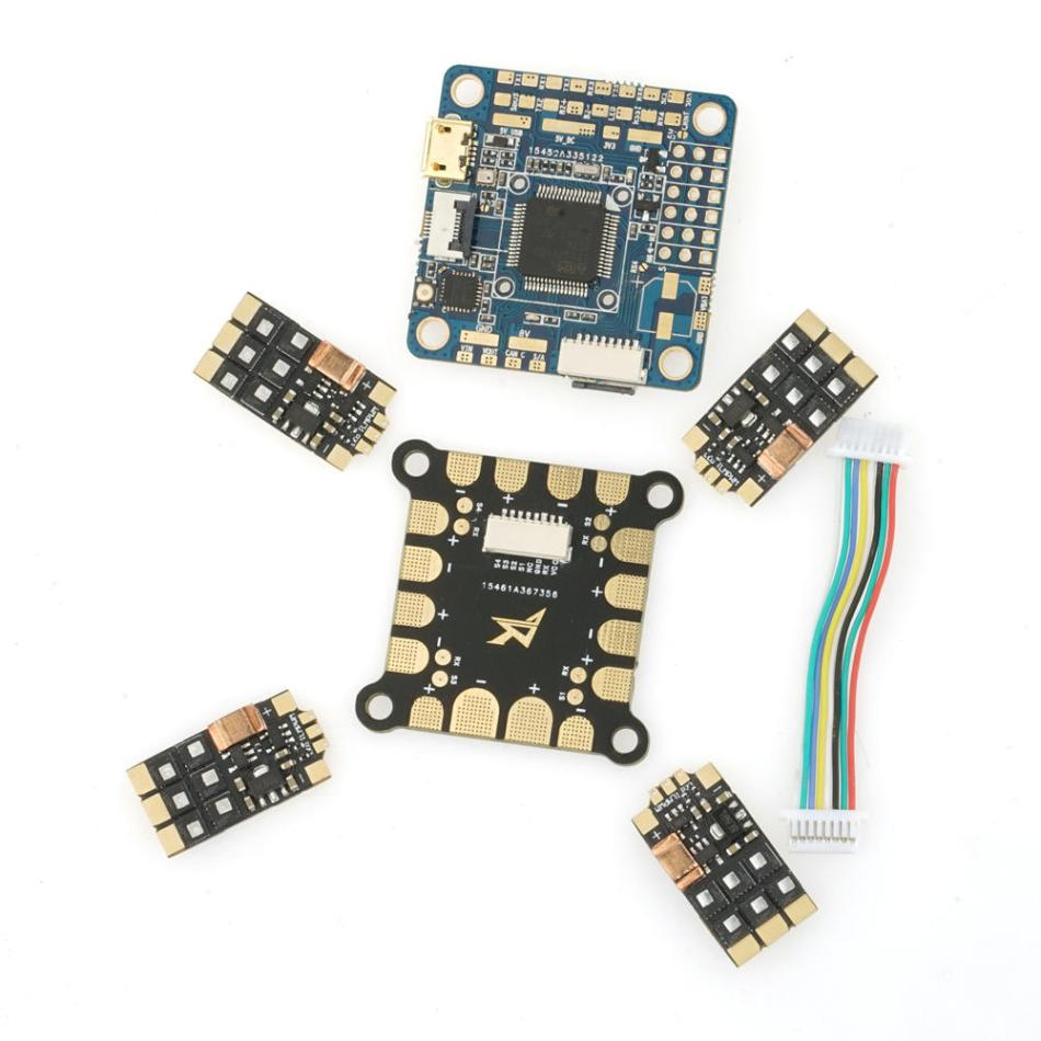 Original Airbot OMNIBUS F4 V6 Flight Controller Furling32 mini 45A Blheli-32 Brushless ESC with PDB for RC Drone FPV Racing