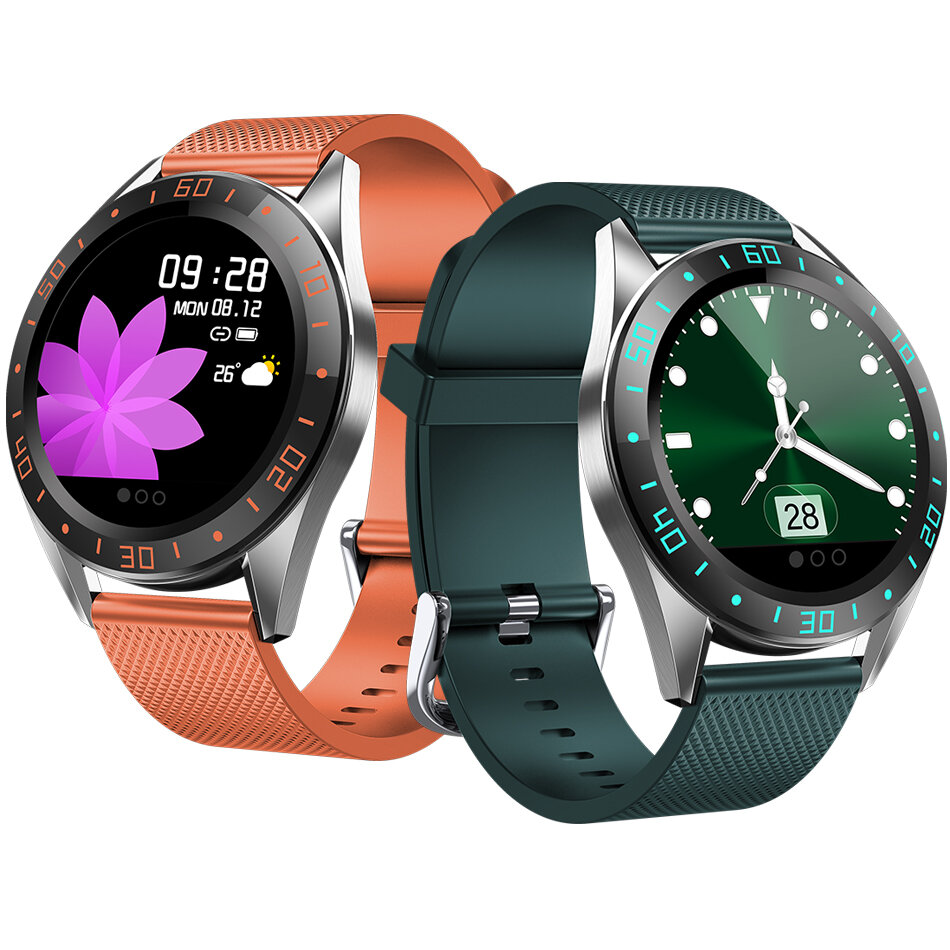 Bakeey GT105 1.22inch Fashion UI Heart Rate Blood Pressure Monitor Weather Forcast Smart Watch