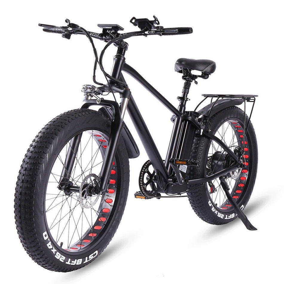 [EU Direct] CMACEWHEEL KS26 750W 48V 15Ahx2 Double Battery 26x4in Electric Bike 45km/h Top Speed 70-120KM Mileage E-Bike