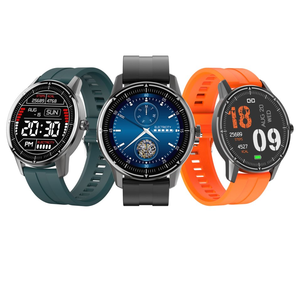[SPO2 Monitor]Bakeey R8 1.3' Full-round Touch Screen Real-time Heart Rate Blood Pressure Monitor Various Dial Options IP68 Smart Watch
