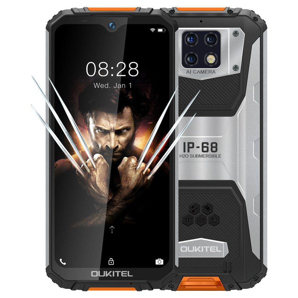OUKITEL WP6 Global Version 6.3 inch FHD+ IP68 Waterproof 10000mAh Battery Android 9.0 48MP Triple Rear Camera 6GB RAM 128GB ROM Helio P70 Octa Core 4G Smartphone