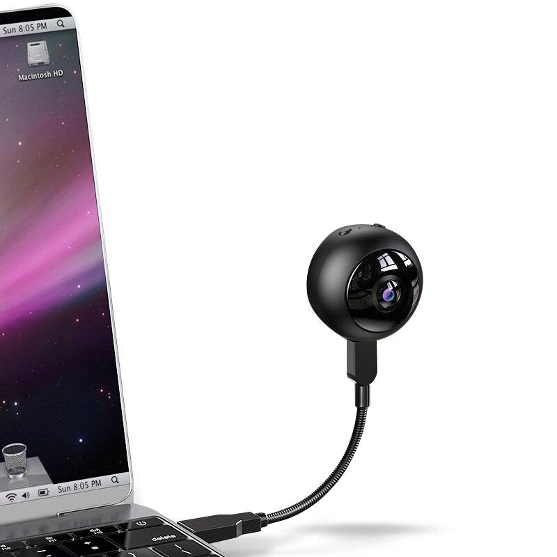 Xiaovv A12 Mini USB WIFI Smart IP Camera Webcam 170° Fisheye Wide Range 1080P V380 Pro AP Connection 128G Auto Tracking Indoor IP Camera