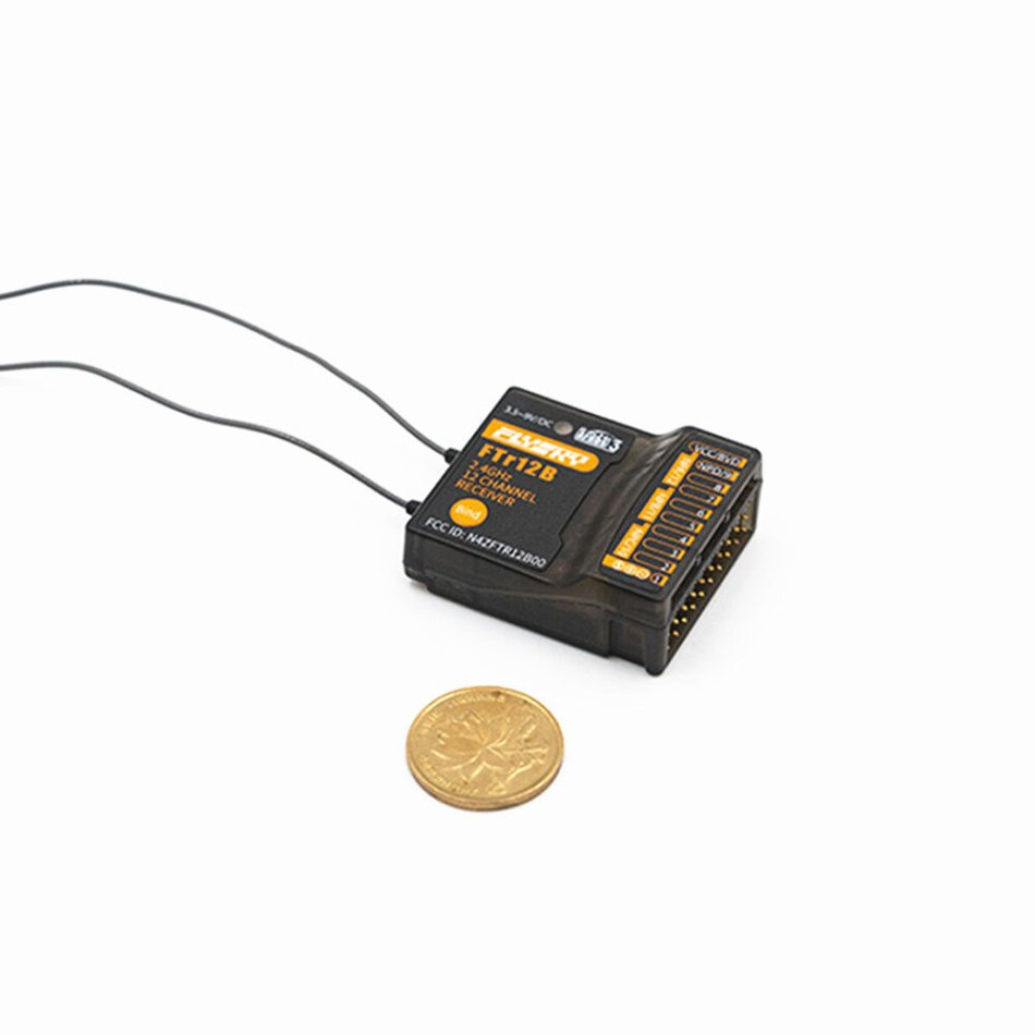 FlySky FTr12B 2.4GHz 12CH Two-Way Dual-Antenna AFHDS 3 RC Receiver PWM/PPM/i.BUS/S.BUS Output for RC Drone
