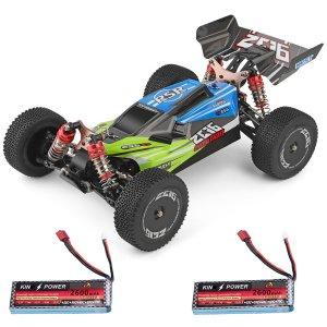 Στα 78.67 € από αποθήκη Κίνας | Wltoys 144001 1/14 2.4G 4WD High Speed Racing RC Car Vehicle Models 60km/h Two Battery 7.4V 2600mAh