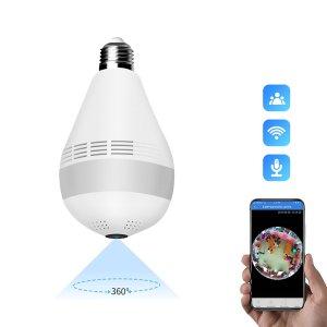 Στα 14€ λάμπα κατάσκοπο έχετε ? | Xiaovv D3 360° WIFI AP Bulb Luminous IP Camera 1080P Night Vision Two Way Audio Motion Detect P2P Security Baby Monitor for Home Safety Gear