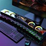Στα € 49.35 από αποθήκη Κίνας   [Game Version] SOAIY SH39 bluetooth 5.0 Electronic Sports Speaker Colorful Laser Light HIFI Sound Quality Desktop Audio Subwoofer Dual Speakers