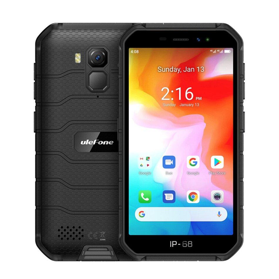 Ulefone Armor X7 5.0 inch NFC IP68 IP69K Waterproof Android 10 2GB RAM 16GB ROM MT6761 Quad Core 4G Smartphone