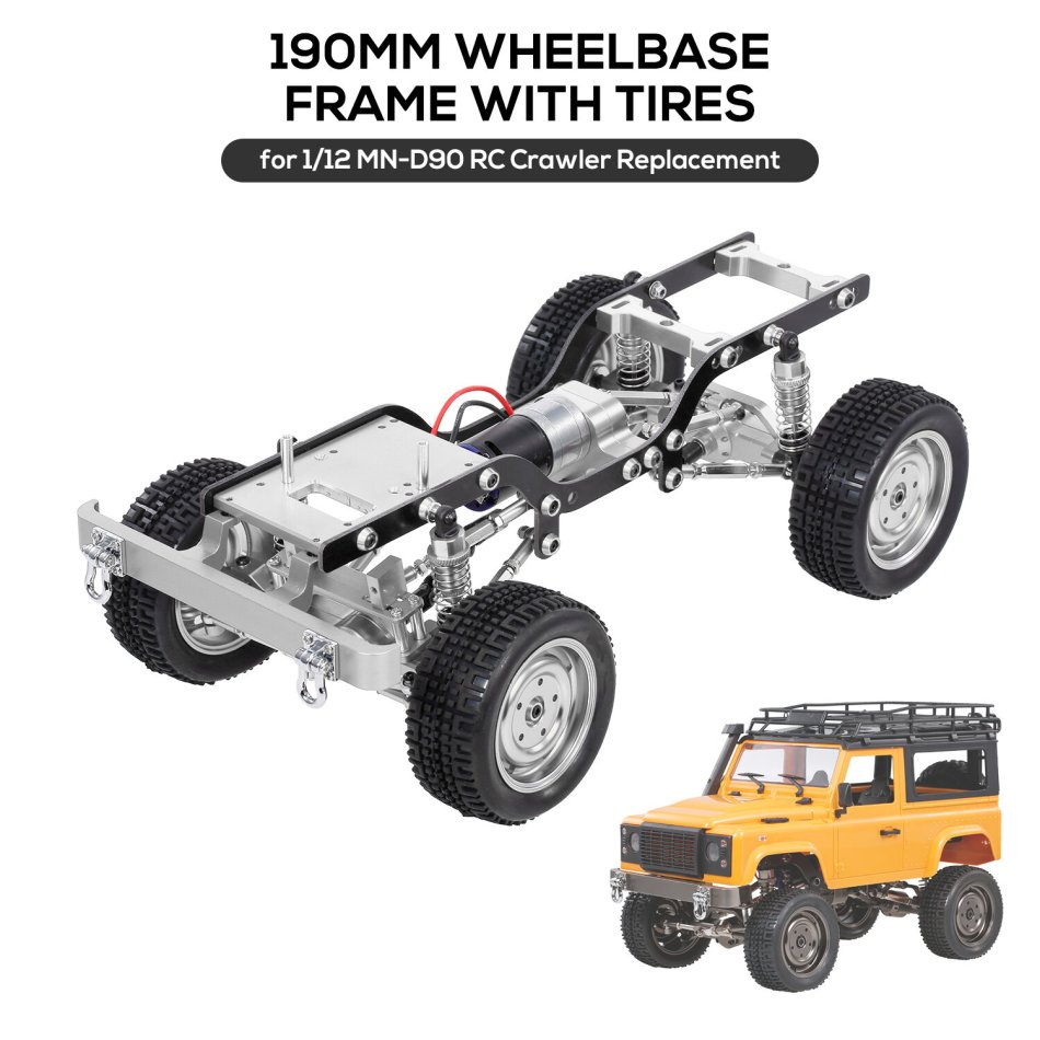 1/12 All Metal Climbing Frame For MN D90 Crawler RC Car Parts Without Electric Parts