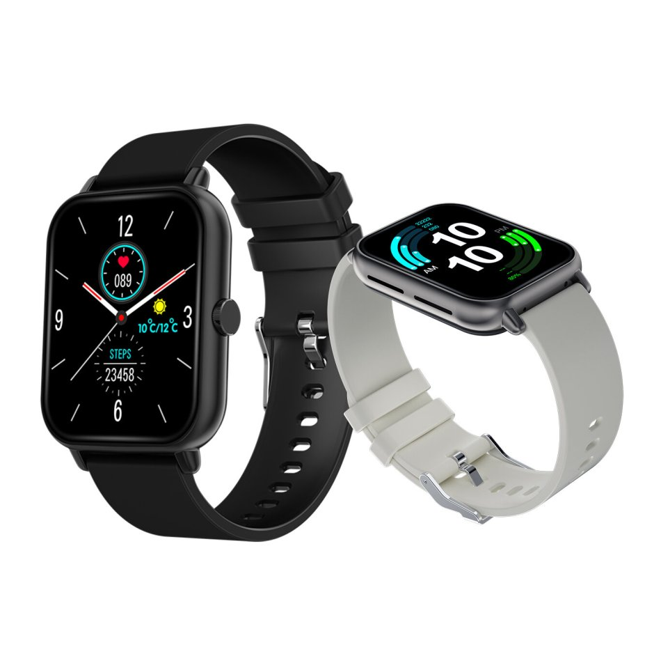 [bluetooth Call]Bakeey A20 1.69 Inch Screen Temperature Test Blood Pressure Heart Rate Monitor Split Screen Task 30 Days Standby Local Music Player BT5.0 Smart Watch