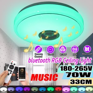 Στα 24€ από Τσέχικη αποθήκη | 33CM 70W bluetooth Smart LED Ceiling Light Music Speaker Remote Control APP Control RGBW Color Lamp AC180-265V