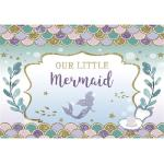 7x5 Mermaid Party Backdrop Birthday Newborn Photography Baby Shower Decorations