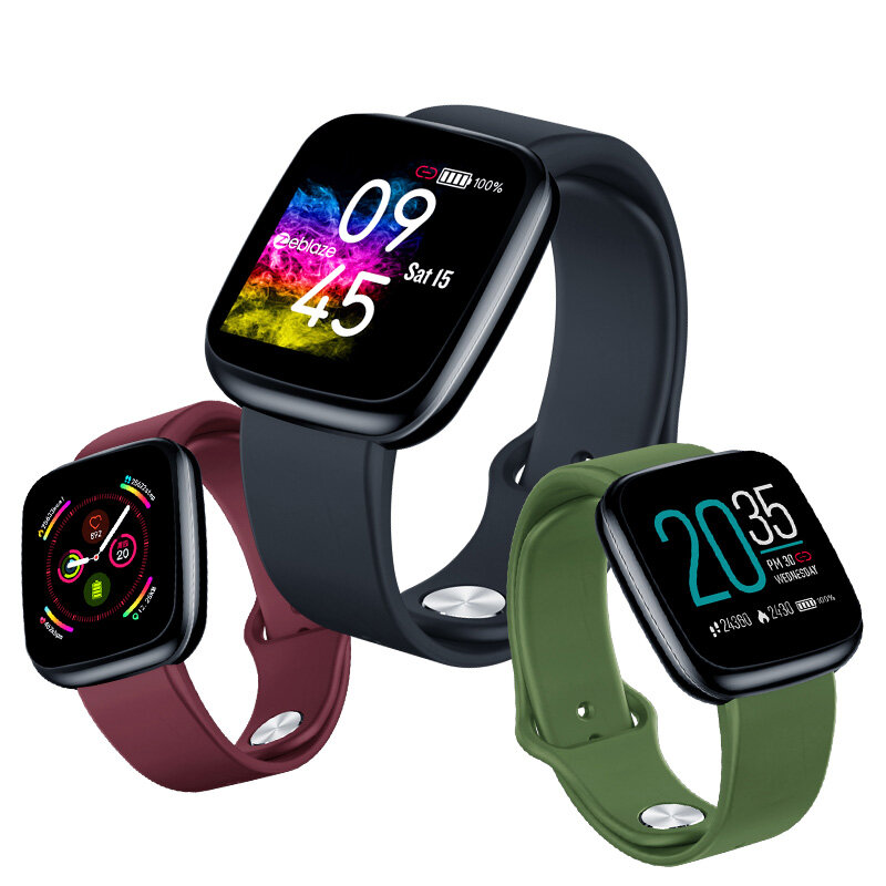 [Super Light] Zeblaze Crystal 3 1.3inch Heart Rate Blood Pressure Oxygen Monitor USB Charging Light-weight Smart Watch