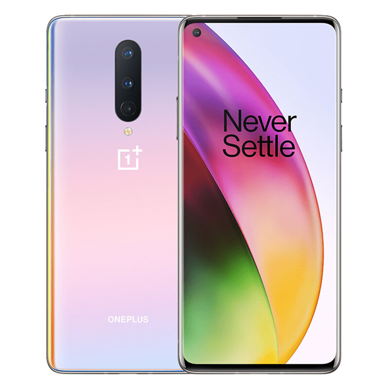 OnePlus 8 5G Global Rom 6.55 inch FHD+ 90Hz Refresh Rate NFC Android10 4300mAh 48MP Triple Rear Camera 12GB 256GB Snapdragon 865 Smartphone