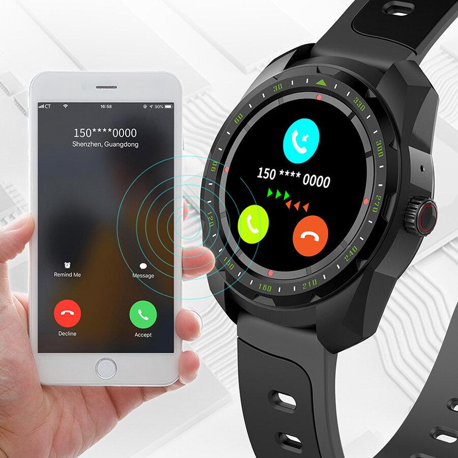 KINGWEAR KW01 bluetooth Calling Heart Rate Sleep Monitor Calculator Stopwatch Real-time Message Remind IP68 Waterproof Smart Watch
