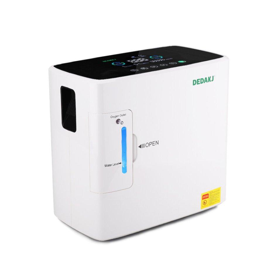 DEDAKJ AC110V / 220V DE-1S 120W Portable Oxygen Concentrator 1-6L/min Oxygen Generator 30-90% (±3%) Home Oxygen Machine Concentrator Oxygen Machine