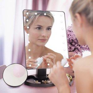 Αποθήκη Κίνας   22 LED Lighted Vanity Touch Screen 360 Rotating Cosmetic Makeup LED Mirrors