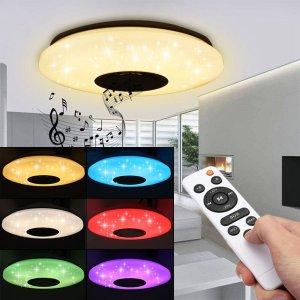 Η πιο VFM λάμπα κατ' εμέ στα 27€ με… Wifi, RGB, χειριστήριο, 60W και ηχείο για να παίζεις την μουσική που θες    Modern 60W RGB LED Ceiling Light bluetooth Music Speaker Lamp Remote APP Control