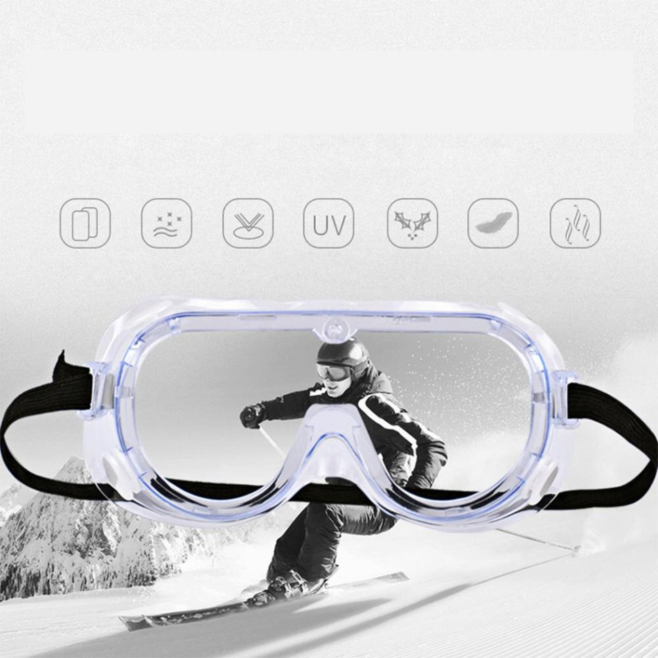 CAPONI Anti Virus Safety Glasses Supplies Eyes Protection Clear Anti Fog Dust Proof Medical Eye Glasses Transparent Protective Medical Use Safety Reading Glasses