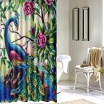 Bathroom 3d Printed Polyester Fabric Colorful Peacock Shower Curtain Waterproof Washable Bath Curtains With 12 Hooks Sale Banggood Com