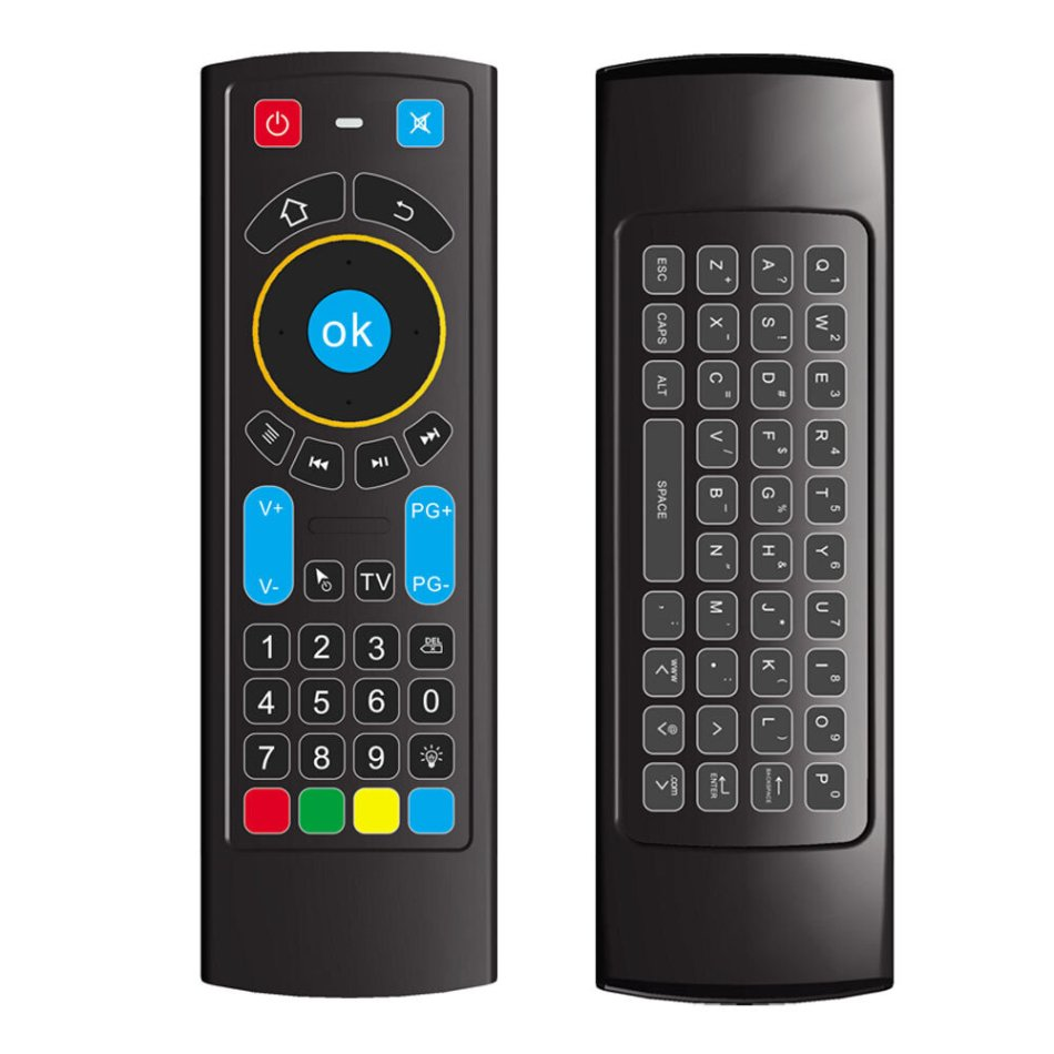 MX3 PRO 2.4GHz Air Mouse 6 Axis Backlit Remote Control Mini Keyboard for Android Smart TV Box