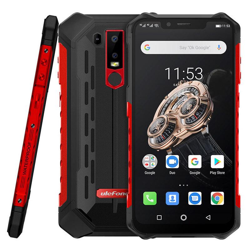 Ulefone Armor 6S NFC IP68 IP69K Waterproof 6.2 inch 6GB 128GB 5000mAh Wireless Charge Helio P70 Octa core 4G Smartphone