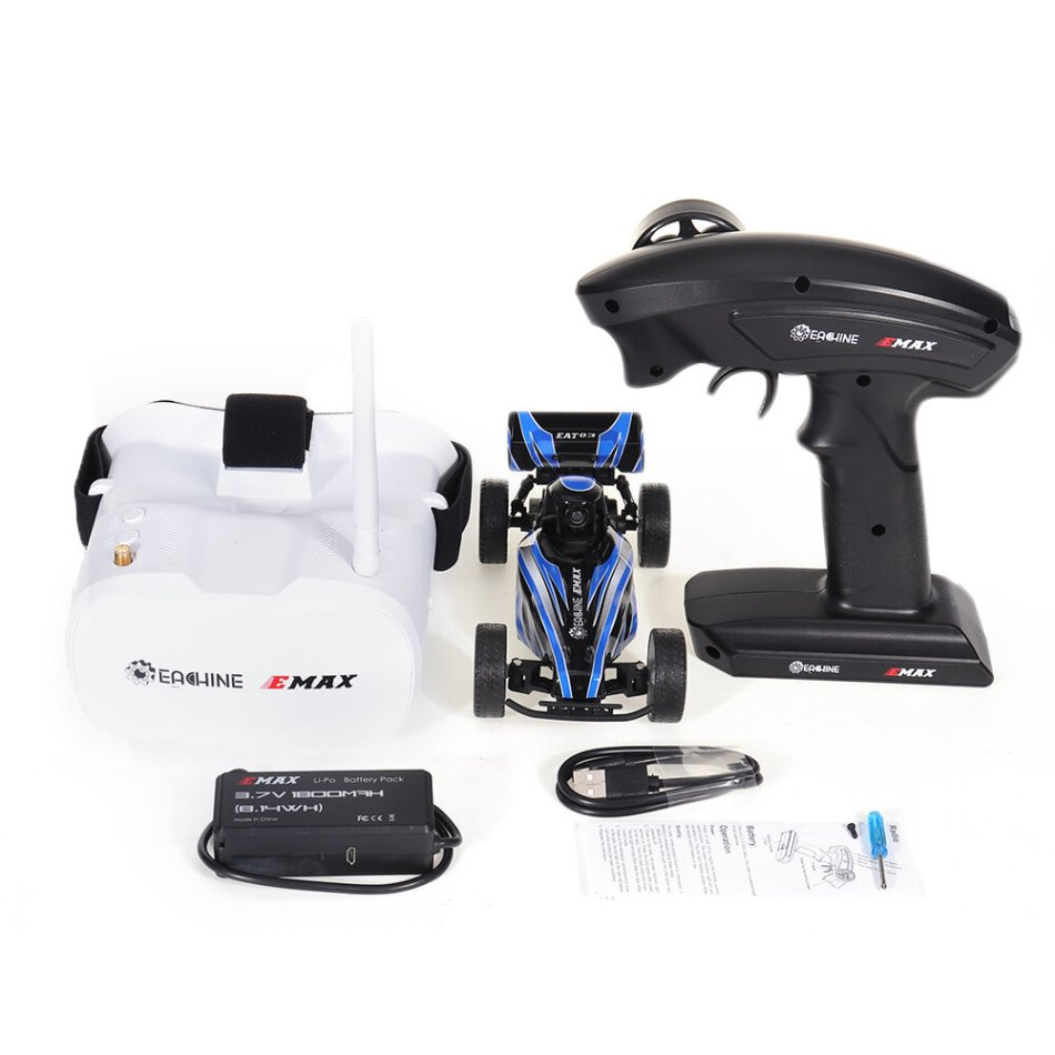 Eachine & EMAX EAT03 1/24 2.4G RWD Electric FPV RC Car With Goggles for Interceptor Full Proportional Control RTR Model