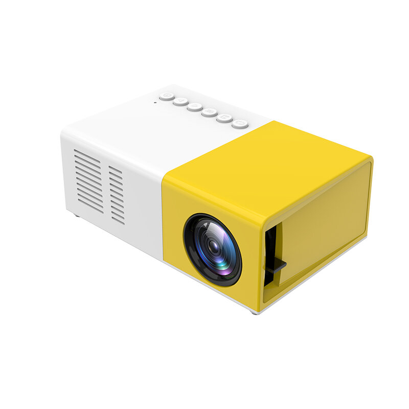 [New Version] J9 LCD LED Projector 1200 Lumens 800:1 Support 1080P Portable Office Home Cinema