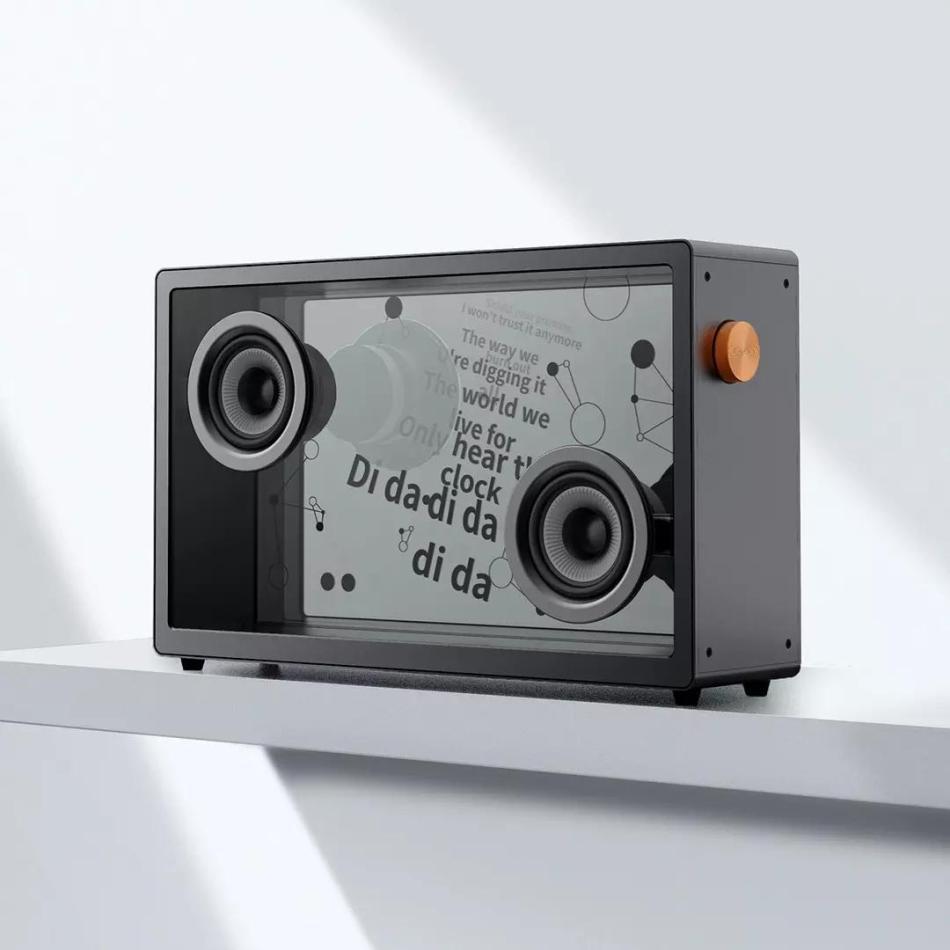 MORROR ART Suspended Lyrics Transparent Bluetooth Speaker 40W 21.5'' IPS Panel Smart Soundbar 2.0 Channel from Xiaomi Youpin