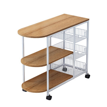 3 tier kitchen microwave oven shelf standing storage cart bakers rack with rolling wheel