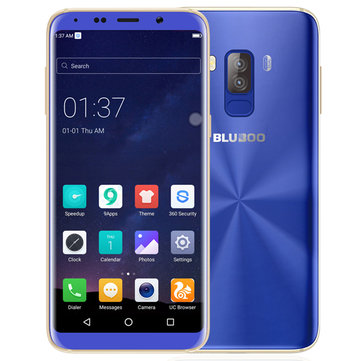 Bluboo S8 Lite 5.7'' Dual Rear Cameras Android 7.0 1GB RAM 16GB ROM MTK6580A Quad-Core 4G Smartphone