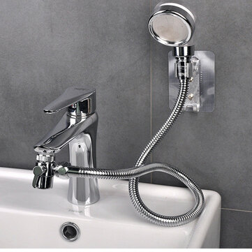 bathroom wash face basin water tap external shower head hair washing faucet rinser extension set 1 5m explosion proof hose