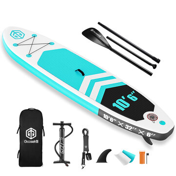 """Goosehill Rainbow R Inflatable SUP Board Stand Up Paddle Board 10' Long 32"""" Wide 6"""" Thick Inflatable Boat"""