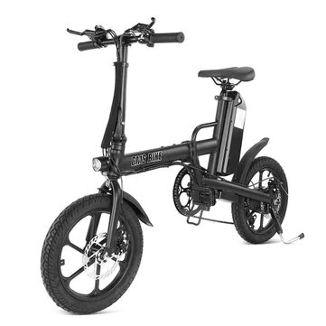 £576.51 10% CMSBIKE F16-PLUS 13Ah 250W Black 16 Inches Folding Electric Bicycle 25km/h 80km Mileage Intelligent Variable Speed System Bike & Bicycle from Sports & Outdoor on banggood.com