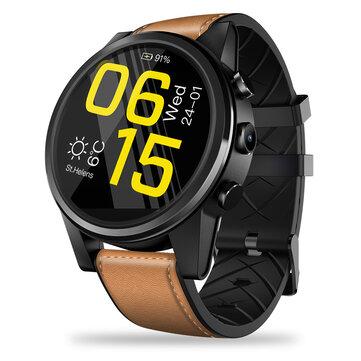 Zeblaze THOR 4 Pro Builtin GPS 4G Wifi LTPS Crystal Display 1GB/16GB Android7.1 600mAh Leather Strap Watch Phone Black